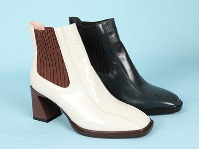 丹比奴皮鞋2020新款�r尚短靴
