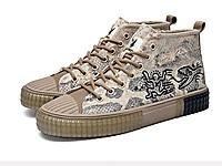 花公子男鞋2020秋季新款高�头�布鞋