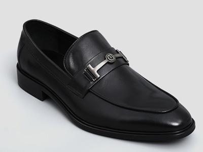 金利来男士经典商务金属装饰时尚一脚蹬懒人鞋