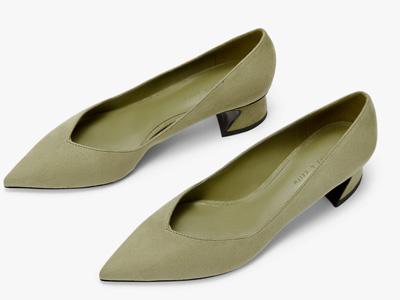 CHARLES&KEITH女鞋建筑跟饰女士尖头高跟鞋