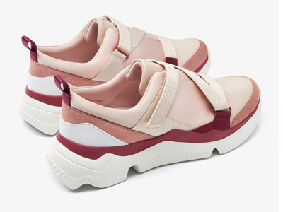 CHARLES&KEITH拼接材质运动鞋老爹鞋