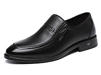 日泰男鞋正装鞋商务皮鞋真皮套脚中老年爸爸鞋