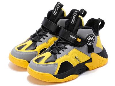 牧童童鞋2020冬季新款運動鞋皮面男童