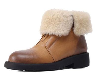 柯玛妮克-2020年秋冬季新款女鞋圆头雪地靴