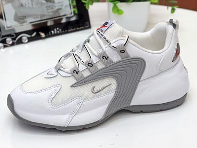 展風小白鞋女2020秋款單鞋真皮網面透氣內增高