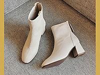 xyxyly香香莉瘦瘦靴2020年新款方头韩版马丁靴