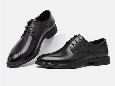 VOLO犀牛男鞋2020秋季新款增高德比正裝皮鞋