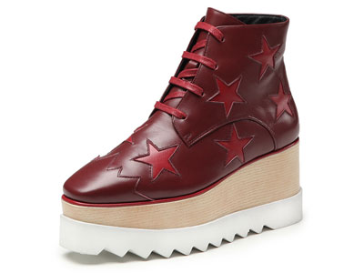 白领丽人秋冬新款牛皮休闲靴松糕鞋时尚厚底