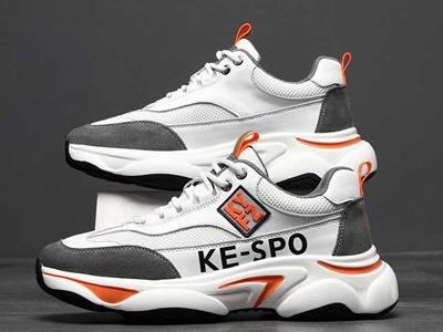 2020德尼尔森小白鞋老爹鞋网面加皮面运动鞋