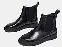 色非2020秋冬新款切尔西靴女真皮短筒