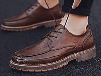公牛巨人2020新款男鞋冬季英伦黑色皮鞋潮流