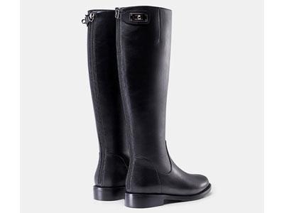 騎士靴色非2020秋冬新款長靴女不過膝平底中筒