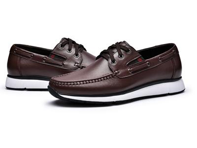 金猴春帆船鞋牛皮英伦休闲鞋男士运动休闲皮鞋