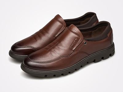 康奈皮鞋新款男鞋韩版潮流休闲真皮鞋软底时尚