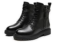 �W米高�壤��女鞋牛皮�R丁靴�W�t加�q白底�C�靴