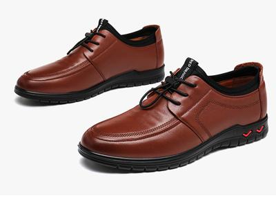 红蜻蜓皮鞋春秋新款韩版潮流运动休闲系带男鞋