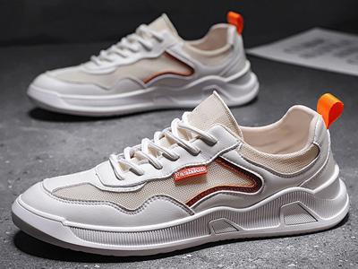 欧伦堡2020秋季新款运动休闲板鞋网面百搭小白鞋