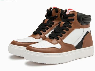 Semir板鞋男2020秋新款时尚潮流休闲高帮鞋