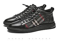 保罗盖帝男鞋2020冬季新款加绒真皮休闲鞋男板鞋