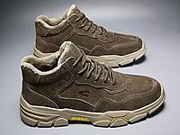 骆驼动感2020新款真皮马丁靴高帮雪地潮鞋