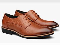 奥康谷尔男鞋商务正装皮鞋潮流格纹英伦皮鞋