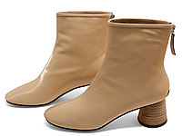 迪朵2020新款短靴女粗跟中跟靴子女高跟时装靴