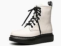 迪朵�R丁靴女2020新款厚底靴子女冬季百搭