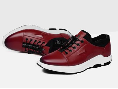 奥康谷尔真皮英伦运动皮鞋板鞋百搭男鞋