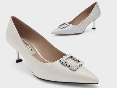 CHARLES&KEITH21冬新款尖头高跟单鞋
