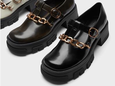 CHARLES&KEITH21冬新款款厚底玛丽珍鞋