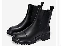 达芙妮马丁靴女鞋秋季2021新款爆款英伦风单靴