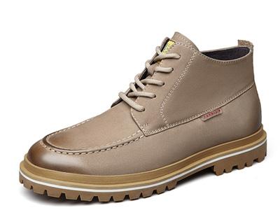 意尔康男鞋冬季加绒马丁靴户外机车靴沙漠靴