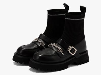 星期六玛丽珍袜靴2021冬新厚底乐福短靴