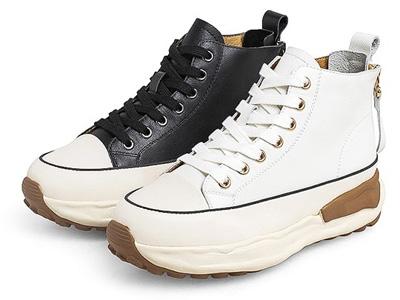 Teenmix天美意2021秋新款面包鞋厚底高帮靴