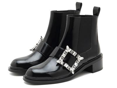 思加图2021冬季新款甜酷切尔西靴粗跟仙女风小短靴
