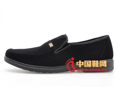 2014秋季新款绒面商务男鞋马蹄跟舒适男布鞋爸爸鞋供应