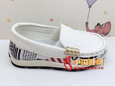 2014秋季新款男童真皮皮鞋小童韩版儿童豆豆鞋时尚休闲单鞋 批发