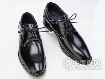 广州真皮男鞋批发 新款男士皮鞋尖头皮鞋绑带低帮商务正装皮鞋