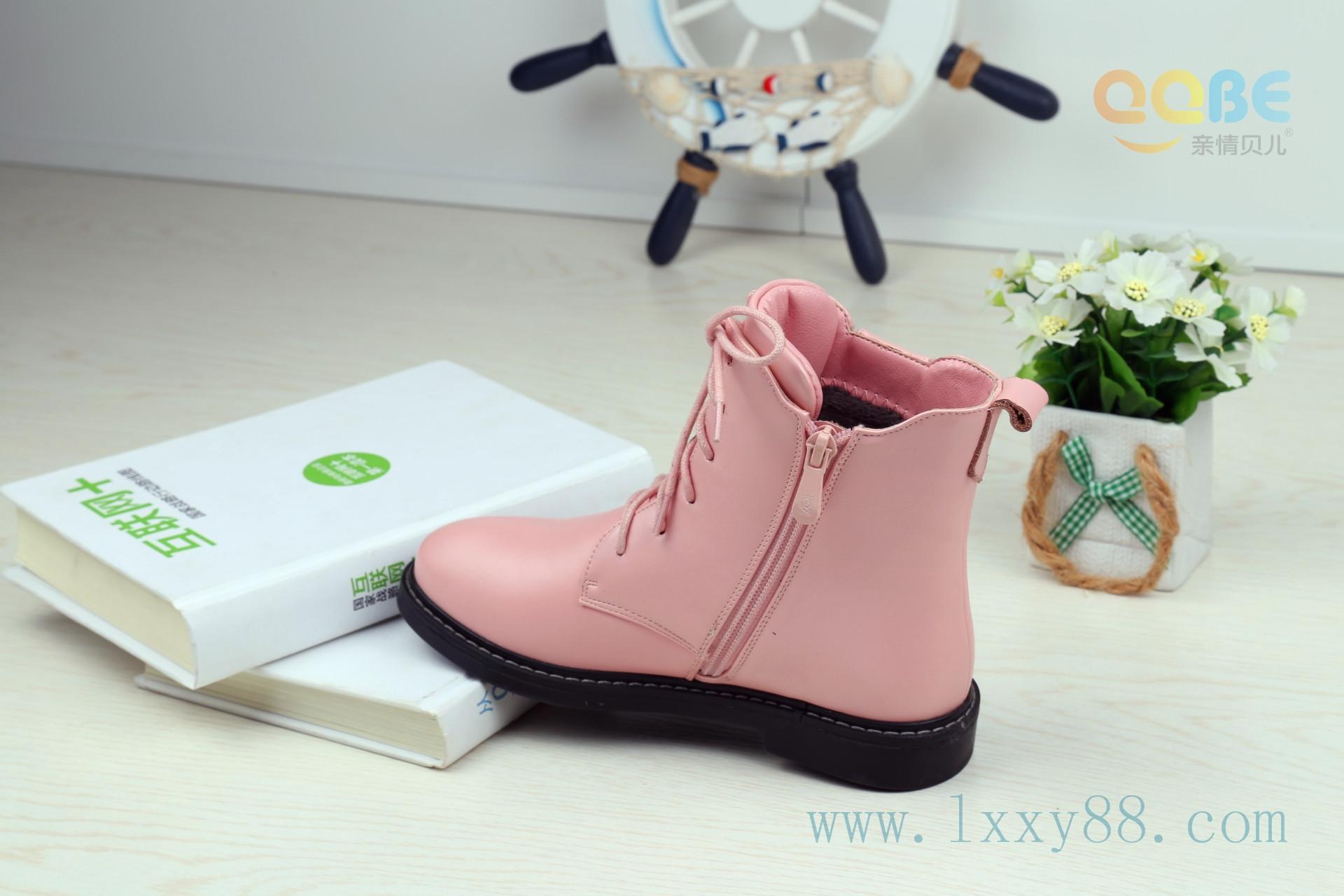 2015年冬季童靴新款亲情贝儿真皮童鞋儿童皮靴